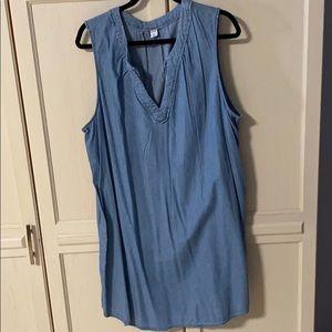 Denim blue sleeveless dress in XXL